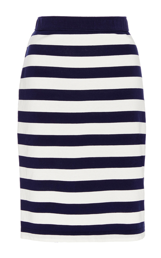 Medium mds stripes blue paley pencil skirt