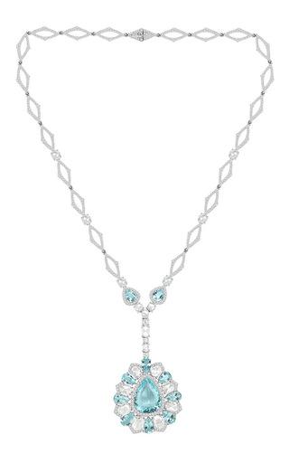 Medium sutra blue couture paraiba necklace