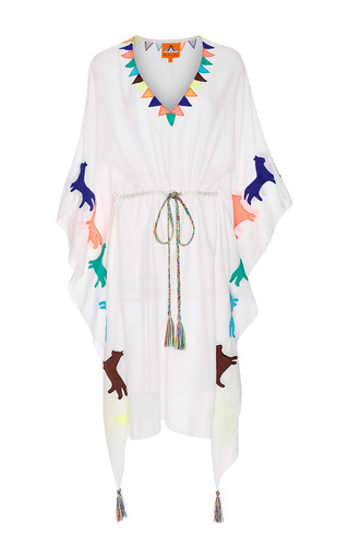 Medium pia pauro white white short dress with tassel detail