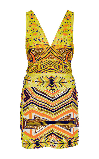 Medium pia pauro yellow yellow multi mini dress