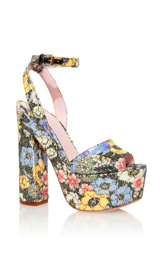 Medium giamba floral sequined floral platform sandals