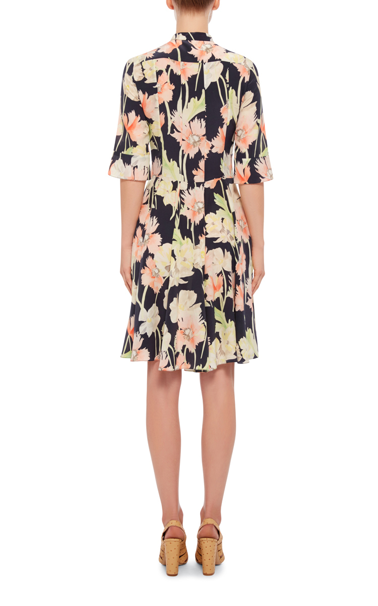 9ccc67b133a CacharelSilk Printed Floral Pleated Dress. CLOSE. Loading. Loading
