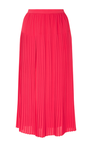 Pink Silk Blend Pleated Skirt by CACHAREL Now Available on Moda Operandi