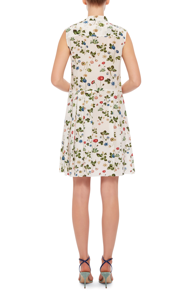 df22ccbbbdc CacharelSilk Floral Printed Pleated Dress. CLOSE. Loading. Loading