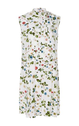 Medium cacharel  2 print silk floral printed pleated dress