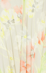 Floral Printed V Neck Dress With Pleats by CACHAREL Now Available on Moda Operandi