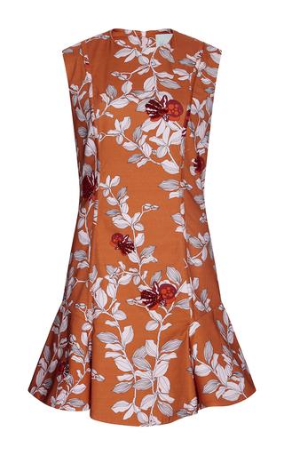 Medium johanna ortiz orange marigold embellished dress