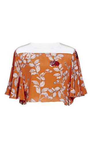 Medium johanna ortiz orange nectarine embellished top