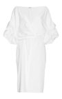 White Cotton Tuxedo Dress by JOHANNA ORTIZ Now Available on Moda Operandi