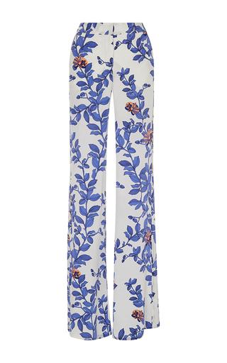 Medium johanna ortiz royal blue floral printed silk pants