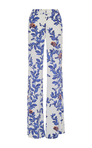 Medium johanna ortiz royal blue floral printed silk pants