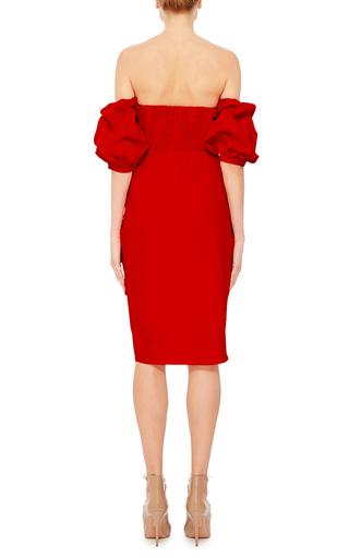 Red Cotton Off The Shoulder Poppy Dress by JOHANNA ORTIZ Now Available on Moda Operandi