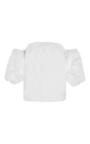 White Cotton Poplin Off The Shoulder Tulum Top by JOHANNA ORTIZ Now Available on Moda Operandi
