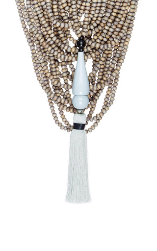 Two In One Mona Island Beaded Necklace  by ERIKA PENA Now Available on Moda Operandi