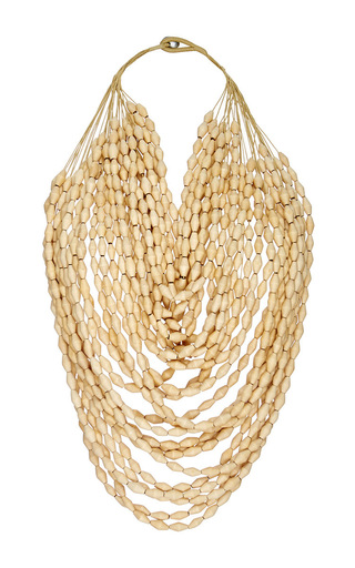 Medium erika pena tan mona island multi strand beaded necklace