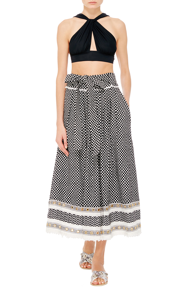 Dodo Bar Or Skirt.Bashira Cotton Skirt With Front Tie