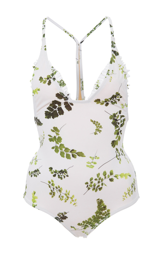Medium made by dawn white racerback traveler one piece swimsuit