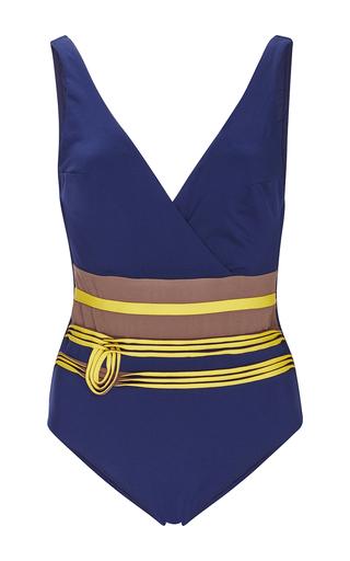 Medium la perla navy corniche deep v maillot