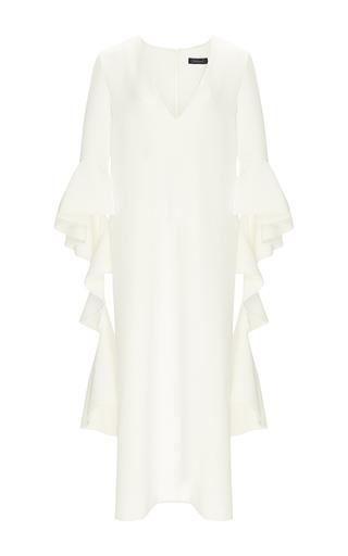Medium ellery ivory advance dress with draped sleeves