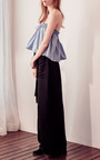 Blue Cotton Hong Kong Ruffle Top by ELLERY Now Available on Moda Operandi
