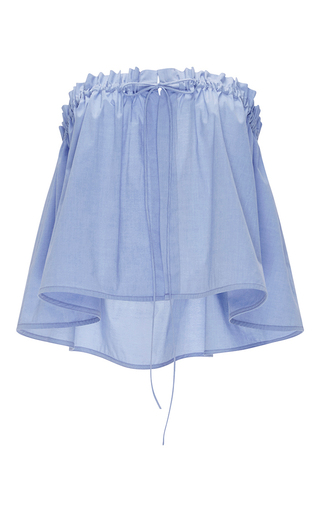 Medium ellery light blue blue cotton hong kong ruffle top