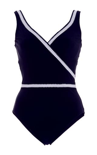 Medium karla colletto black pinking wrap maillot