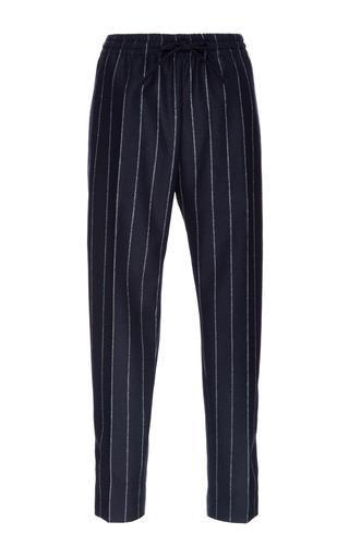 Medium joseph navy striped lou lou cropped wool pants