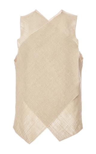 Medium maison rabih kayrouz tan linen top