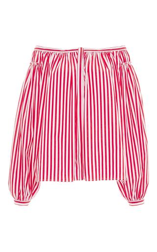 Medium maison rabih kayrouz red large stripe poplin top