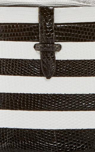 Black & White Striped Lizard Trunk by HUNTING SEASON Now Available on Moda Operandi