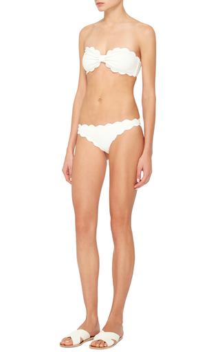 Antibes Scallop Cut Twisted Bandeau Bikini Top by MARYSIA SWIM Now Available on Moda Operandi