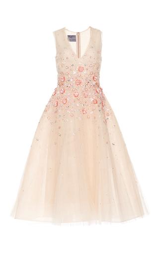 Medium monique lhuillier nude sleeveless tea length dress