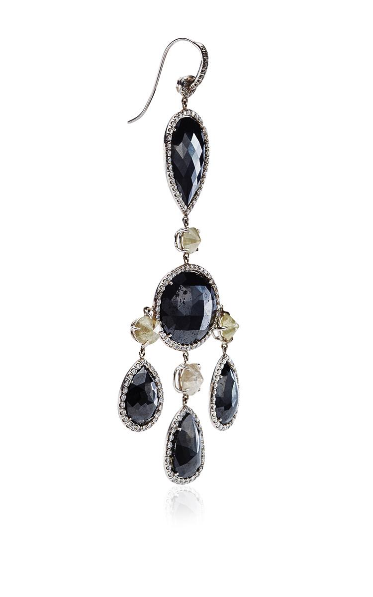 One of a Kind Black Diamond Chandelier Earrings by – Black Diamond Chandelier Earrings
