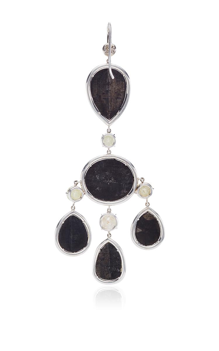 One of a Kind Black Diamond Chandelier Earrings by | Moda Operandi