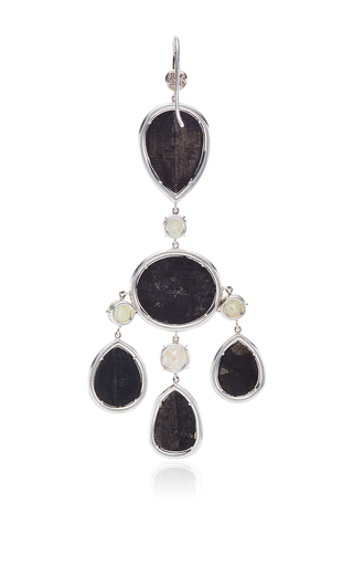 One Of A Kind Black Diamond Chandelier Earrings by NINA RUNSDORF Now Available on Moda Operandi