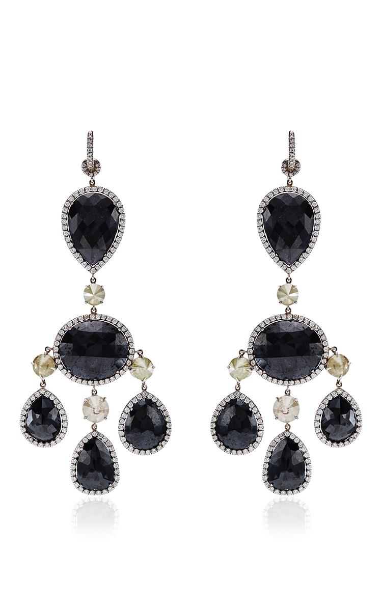 One of a kind black diamond chandelier earrings by nina runsdorf black diamond chandelier earrings close loading arubaitofo Images