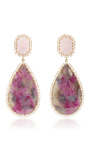 One Of A Kind 18k Rose Gold Earrings  by IRENE NEUWIRTH Now Available on Moda Operandi