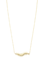 18 K Gold And Champagne Diamonds Baby Centipede Necklace by DANIELA VILLEGAS Now Available on Moda Operandi
