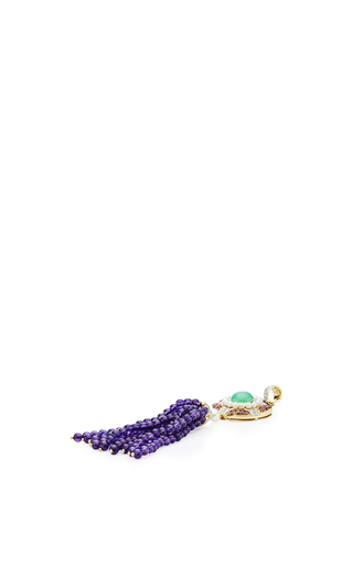 One Of A Kind Diamond And Amethyst Tassel Pendant Necklace by ABELLAN NEW YORK Now Available on Moda Operandi