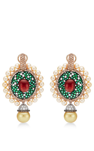Medium abellan green one of a kind sultan s treasure pendant earrings