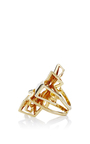 Libertine 18 K Yellow Gold Ring by ANA KHOURI Now Available on Moda Operandi