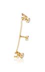 White Diamond And 18 K Yellow Gold Time Ear Cuff by ANA KHOURI Now Available on Moda Operandi