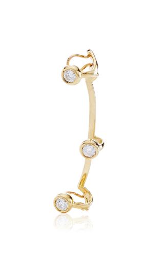 Medium ana khouri gold white diamond and 18k yellow gold time ear cuff