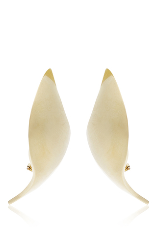 Annabel 18 K Yellow Gold Earrings by ANA KHOURI Now Available on Moda Operandi