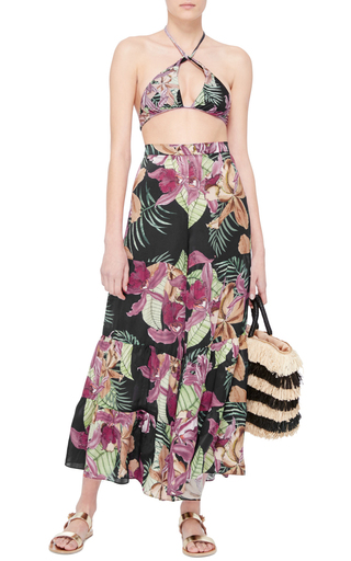 Silk Wide Legged Pants by ADRIANA DEGREAS Now Available on Moda Operandi