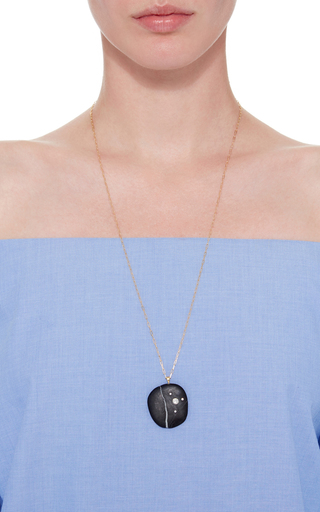 One Of A Kind Tao Stone And Diamond Necklace by CVC STONES Now Available on Moda Operandi