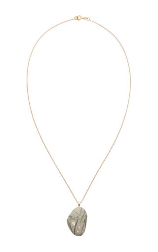 Medium cvc stones white one of a kind asuka stone and diamond necklace