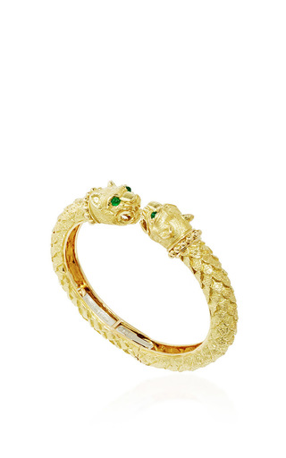 Medium david webb gold greek lion bangle