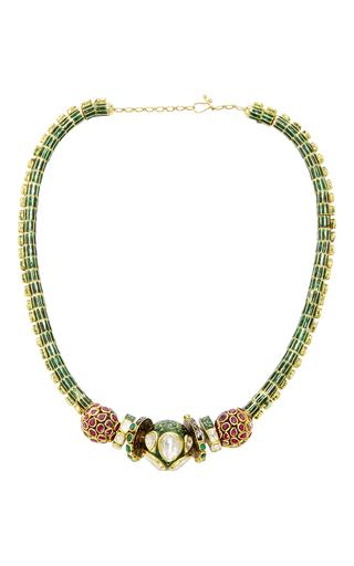 Medium sanjay kasliwal gold octopus necklace