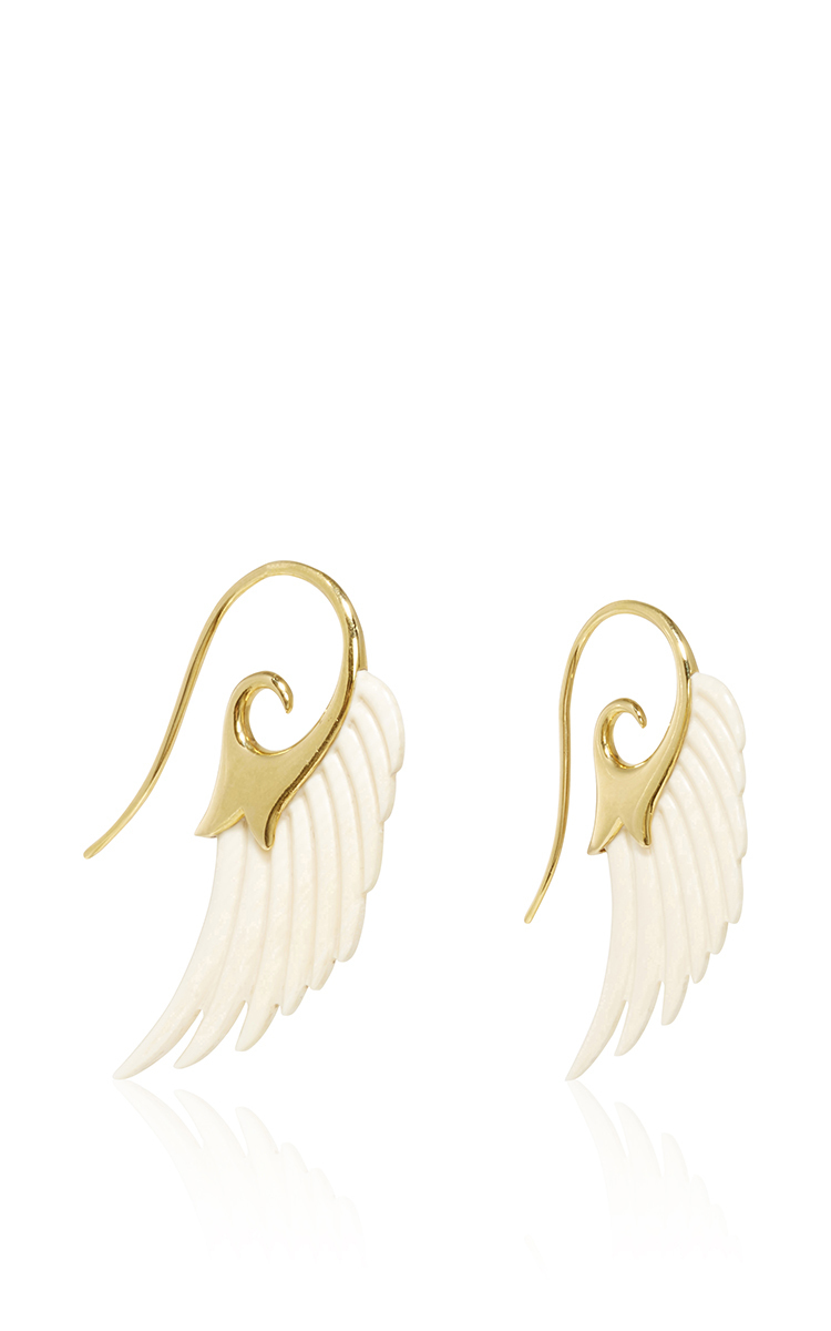 Noor Fares Wing Earrings In Mammoth Ivory WpoHA4x